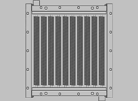 Биметаллические промышленные паровые воздухонагреватели