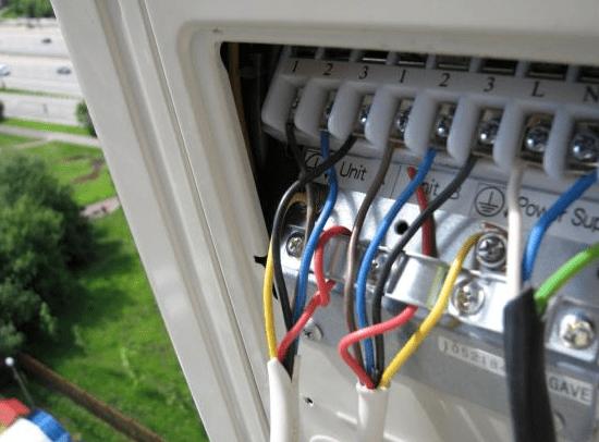 подключение проводов в кондиционере