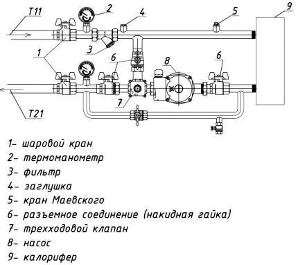 калорифер схема