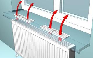 Решетки вентиляционные на подоконник