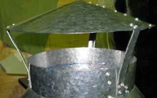 Дефлектор на дымоход: изготавливаем и устанавливаем своими руками.