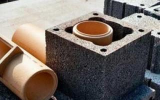 Бетонные блоки для дымоходов
