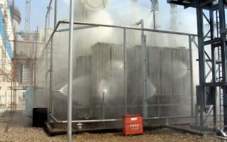 Использование дренчерной завесы при тушении пожара