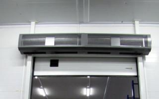 Тепловые завесы водяные: принцип работы, способы установки, виды