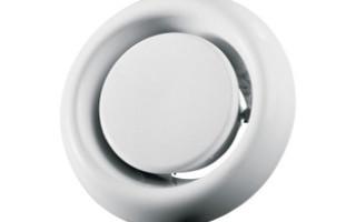 Диффузор вентиляционный: назначение, виды, выбор, установка