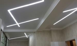 Способы освещения для натяжных потолков