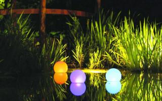 Плавающие светильники в ландшафтном дизайне
