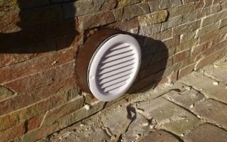Вентиляционное отверстие в стене, фундаменте