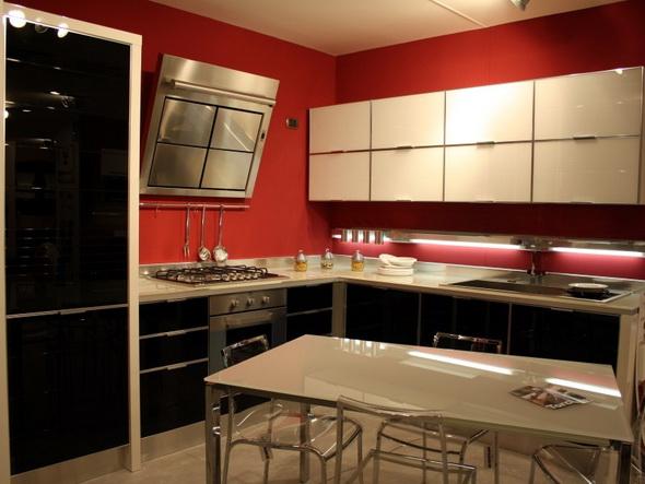 вытяжка в кухне стиля модерн