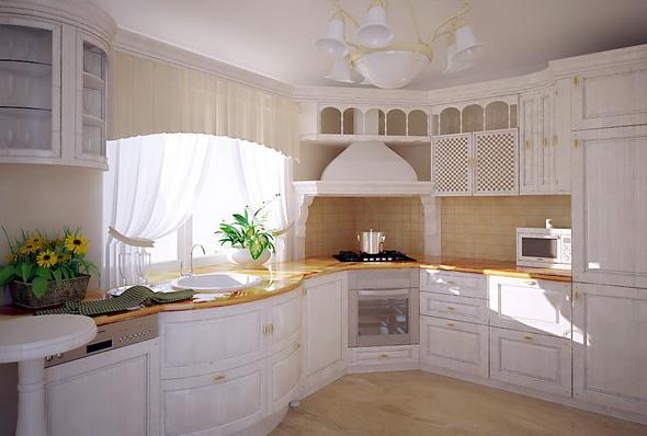 кухня с угловой плитой