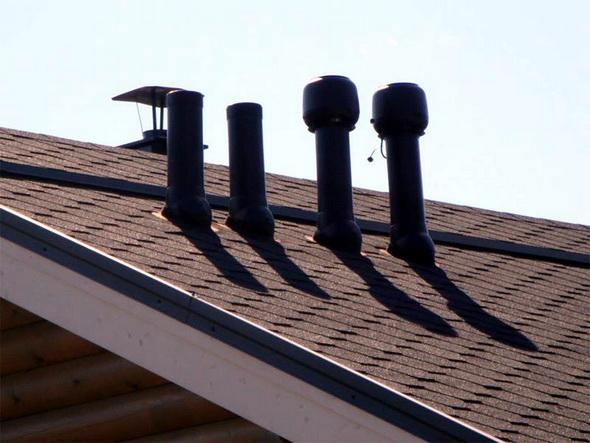 узел вентиляции на крыше