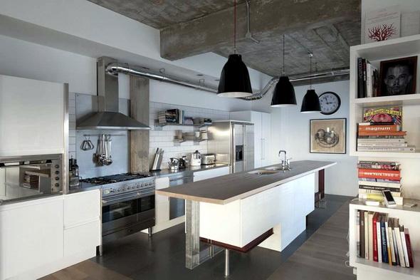 кухня в доме из СИП-панелей
