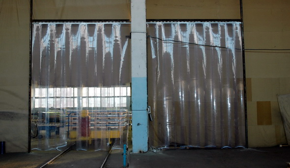 тепловая завеса на воротах