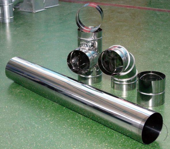гладкие металлические воздуховоды