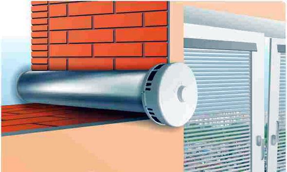 стенной вентиляционный клапан